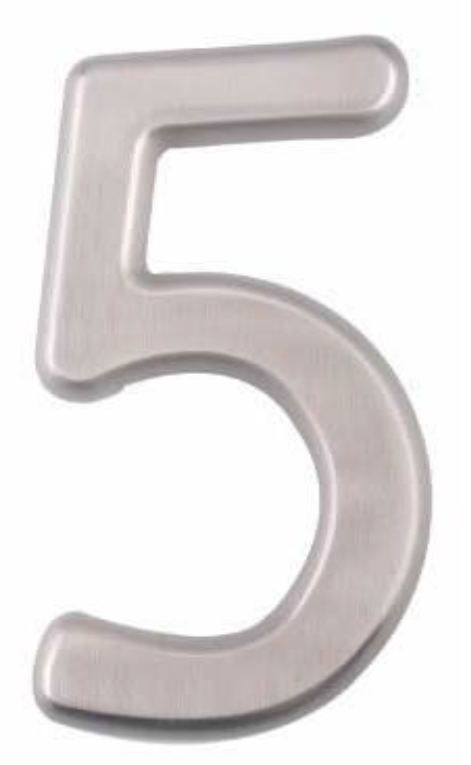 Image House Number 4 inch – # 5