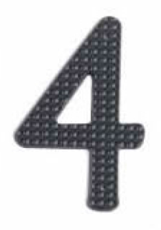Image House Number 3 inch – # 4 aluminum black