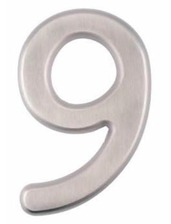 Image House Number 6 inch – # 9
