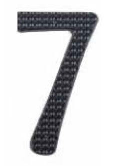 Image House Number 3 inch – # 7 aluminum black
