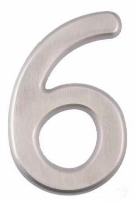 Image House Number 6 inch – # 6