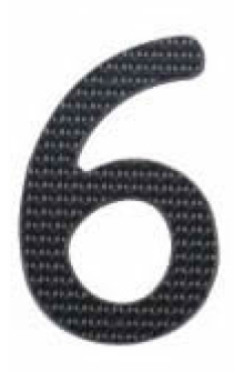 Image House Number 3 inch – # 6 aluminum black