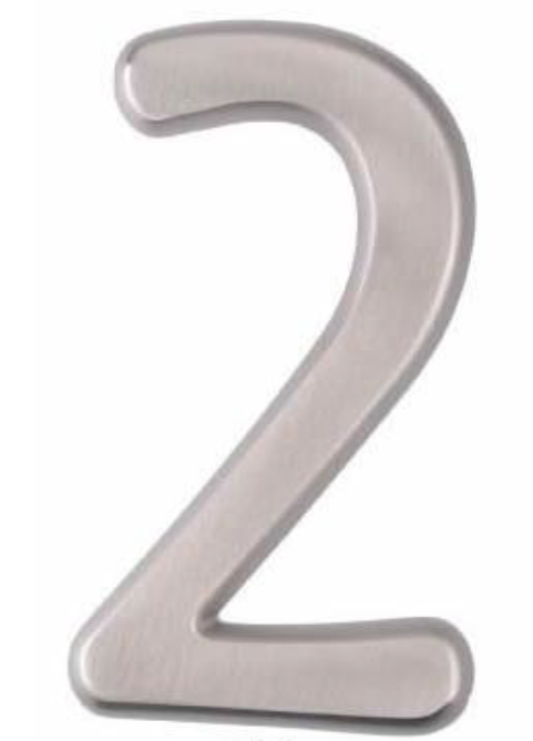 Image House Number 4 inch – # 2