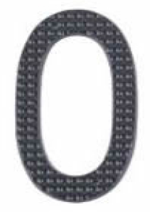 Image DISCONTINUED                 House Number 3 inch – # 0 aluminum black